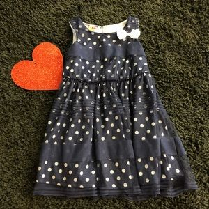 💚💚 Navy polka dot dress